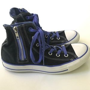 Converse 8 Women's 6 Men's All Star Black Shoes